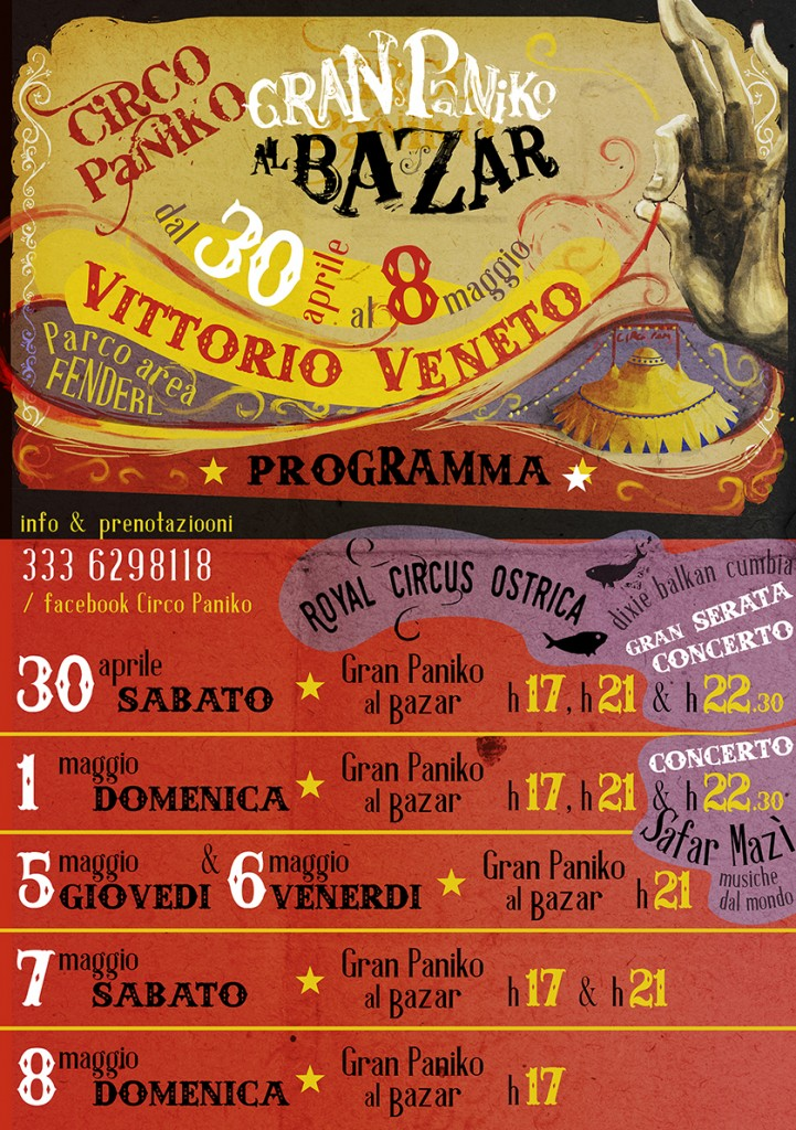 CIRCO PANIKO - programma Vittorio Veneto_